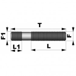 ESPÁRRAGO DE DOBLE ROSCA M14X1,50 L 80
