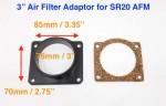 Adaptador caudalímetro Nissan SR20 para filtro de admisión